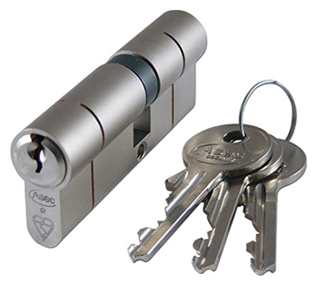 Cylinder locks with keys