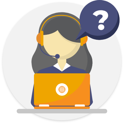 vector of a woman answering phone on laptop