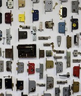 wall of different locks
