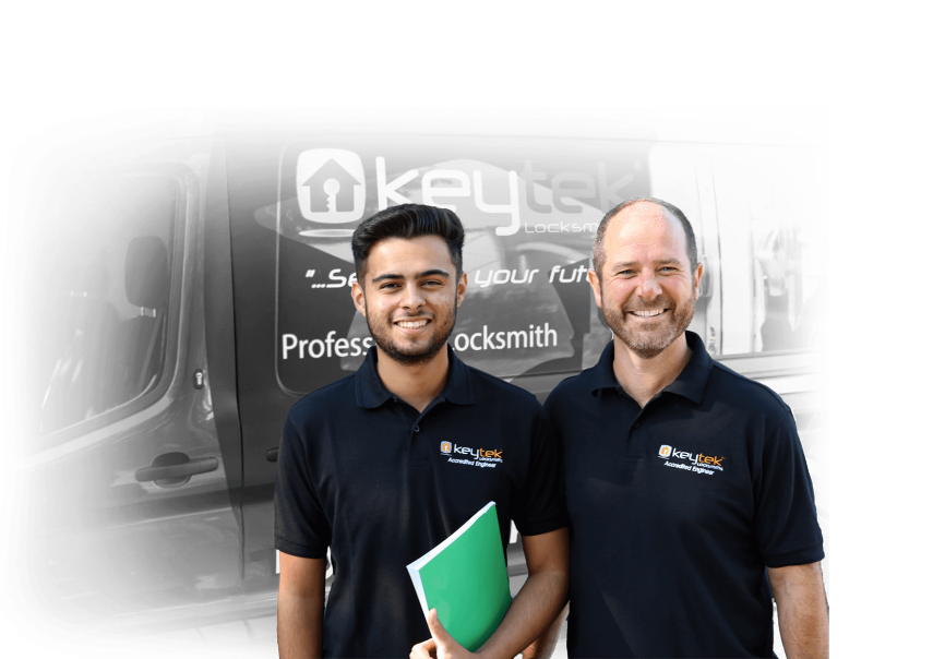 keytek locksmiths outside van