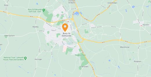 Bury St Edmunds Locksmith map