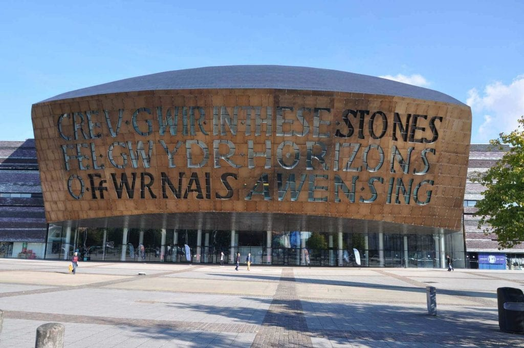 millennial centre in cardiff, wales