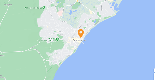 map of Locksmiths in Eastbourne