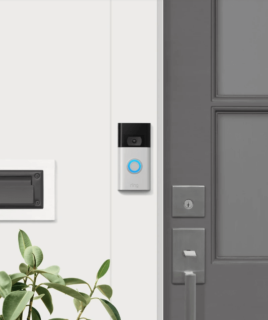 ring doorbell on wall outside