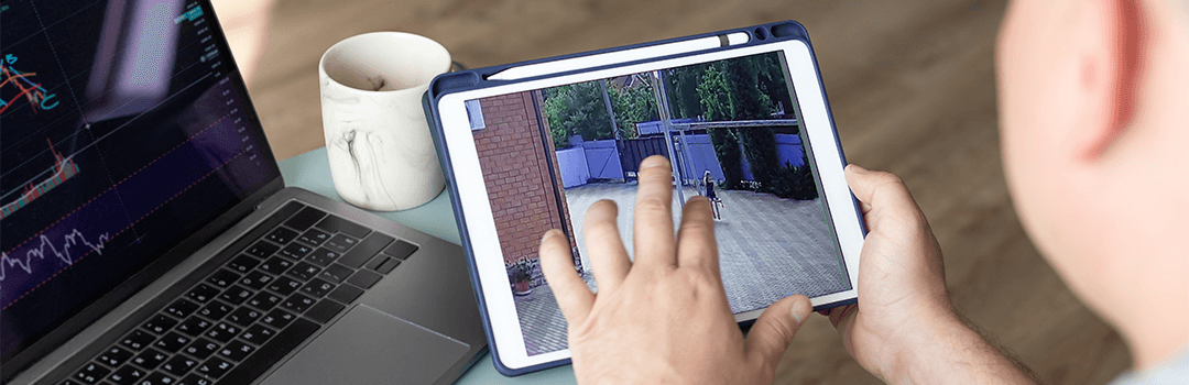 Outdoor Security Camera App open on smart device