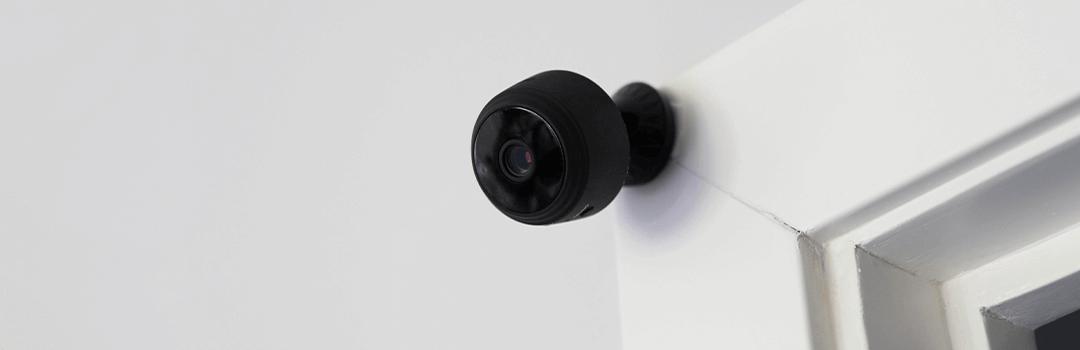wireless black outdoor security camera