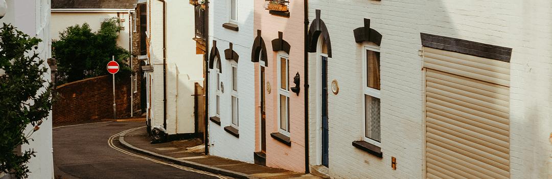 row of terraced houses on a Southampton street